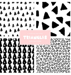 Triangles pattern collection vector