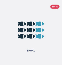 Two color shoal icon from animals concept vector
