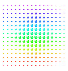 users icon halftone spectral pattern vector image
