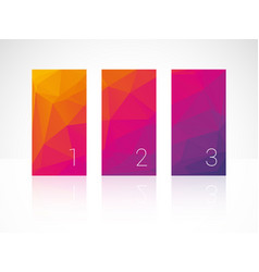 vertical color bars with numbers vector image