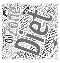 What Is The Zone Diet text background wordcloud vector