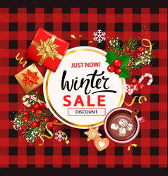 winter sale card for 2021 shopping season vector image