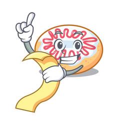 With menu jelly donut mascot cartoon vector