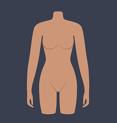 Woman mannequin torso flat style vector image