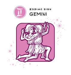 Gemini Astrology Sign vector image