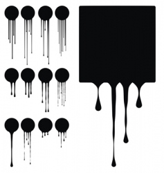 ink drips vector image