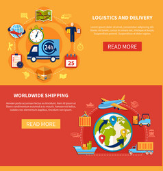 logistic banner composition vector image vector image