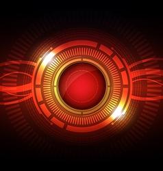abstract hi tech button vector image
