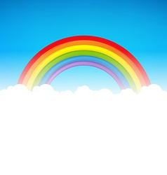 Color Rainbow With Cloud vector image