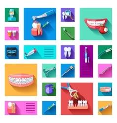 Dentist Icons Set vector image