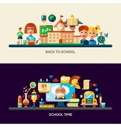 Education website header banner with webdesign vector image vector image