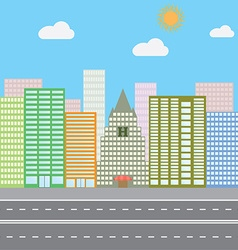 Flat design concept for urban landscape city vector image