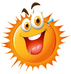 Bright sun with happy face vector image