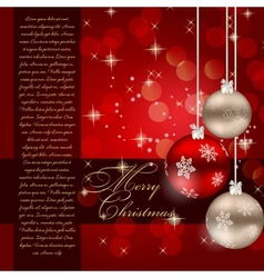 Elegant Christmas card template vector image vector image