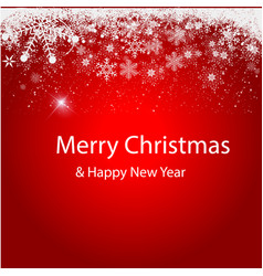 merry christmas the background is gently red vector image