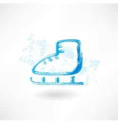 One skate grunge icon vector image