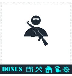 Raider icon flat vector image