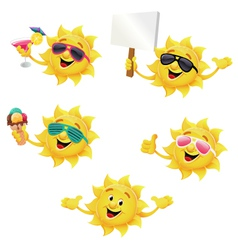 Sun Character Set vector image vector image