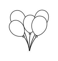 balloons birthday decoration vector image vector image
