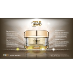 Digital glass face cream brown container vector image vector image