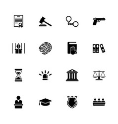 law justice - flat icons vector image