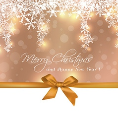 Merry Christmas cute gift with copy space greeting vector image