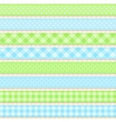 Ribbons and borders vector image