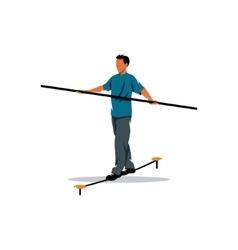 Rope walker man sign Funambulist vector image vector image