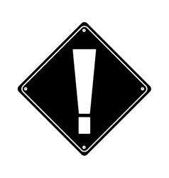 silhouette warning alert attention sign icon vector image