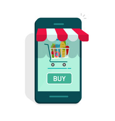 smartphone online store concept of e vector image