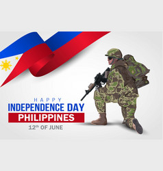 12th june background for happy independence vector
