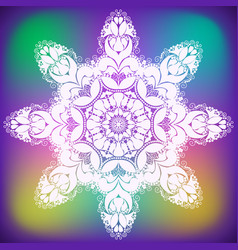 Abstract curl flower snowflake vector