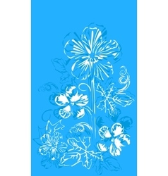 Abstract flowers buttercups vector