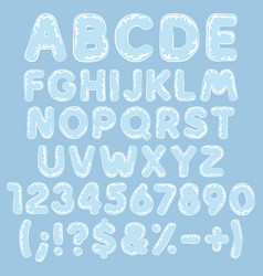 alphabet letters numbers signs made plastic vector image