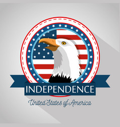 american eagle design vector image