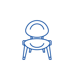 baby chair line icon concept baby chair flat vector image