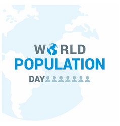 Banner or poster of world population day white vector