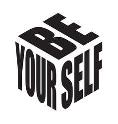 Be yourself simple text slogan t shirt graphic vector