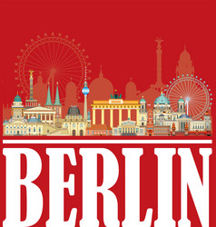 berlin skyline 9 vector image