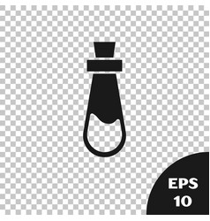 Black bottle with potion icon isolated on vector