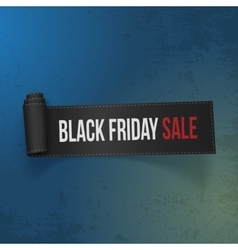Black Friday Sale realistic Paper Ribbon vector