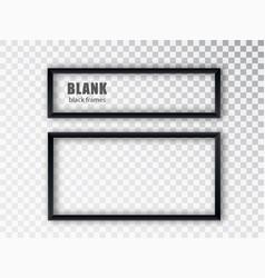 Black rectangular frames blank banners template vector