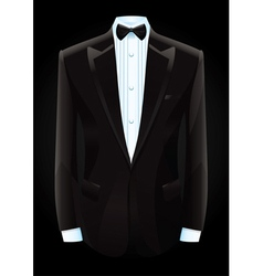 Black tuxedo and bow tie vector