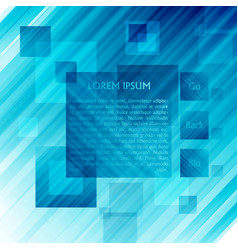 blue template for web vector image