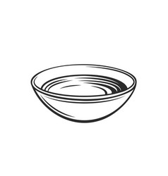 Bowl soy sauce outline icon vector