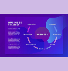 business strategy brochure template vector image