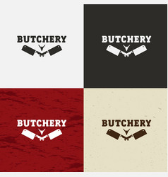 Butcher shop icon butcher shop logo vector