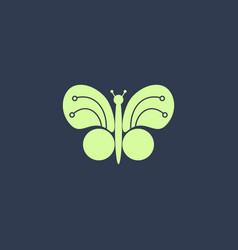 butterfly digital logo design electronic chip vector image