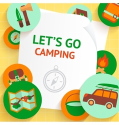 Camping background template vector image
