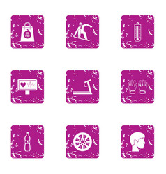 Clatter icons set grunge style vector
